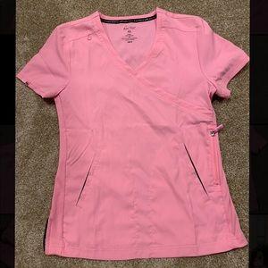 Koi Lite Mock Wrap Scrub Top Shirt